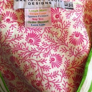 Gretchen Scott Designs Tops - Playful GRETCHEN SCOTT pink and lime tunic